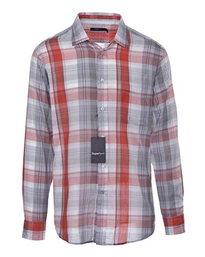 Used, Zegna Sport Mens Regular Fit Plaid Button-Front Shirt for sale  Delivered anywhere in USA