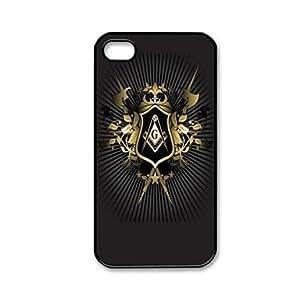 HP-Patrón Popular Mason Freemason masónica de plástico duro caso para iPhone 4/4S