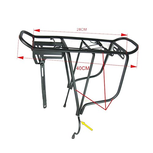 Bike Seat Rack, Inkach Bike Back Rear Bag Pannier Rack Alloy Bicycle Seat Post Frame Carrier Holder