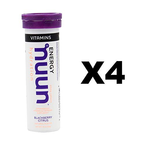 Nuun Vitamins + Energy: Blackberry Citrus Daily Supplement (4 Tubes of 12 Tabs)