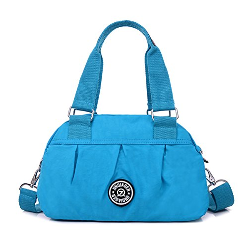 Lightweight Bag Blue Handbag Tiny Water Crossbody Chou Nylon Resistant Messenger Satchel Pure Sky Color wq8ZqnxSR