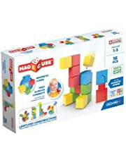 Geomag - Magicube 1+ Full Color - Magnetische Würfel für Kinder - 4 Farben - 24 Blöcke - 100 % recyceltes Plastik