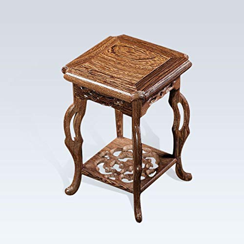 Wood Shelf Vases - Wenge Base Wood Craft Home Accessories Hippocampal Platform Base Stone Stone Potted Basin Shelf 1 Pcs - Wood Vase Set - Wood Vase Rustic - Large Wood Vase
