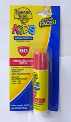 - Banana Boat Kids SPF 50 Stick, 0.55 Ounce (2 Pack)