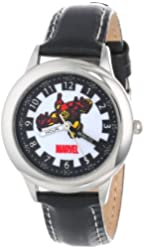 Marvel Kids' W000121 Iron Man Stainless Steel Time Teacher Watch