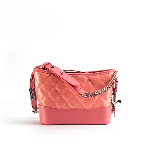 Xddb Joker Lingge Chain Small Incense Portable Ladies Messenger Bag Grapefruit Color 27*21*12cm