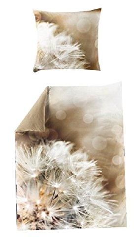 Bierbaum Mako Satin Digitaldruck Wende Bettwäsche 2 Teilig Bettbezug