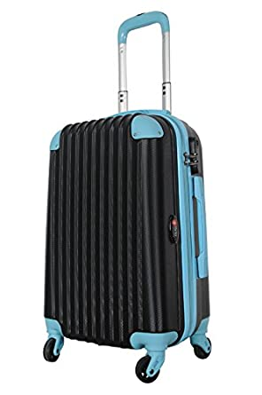 Amazon.com | Brio Luggage Hardside Spinner Carry-On #808 Black ...
