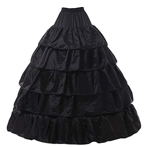 I-Youth Womens Lace Marie Antoinette Masked Ball Victorian Costume Dress (One Size, Petticoat -