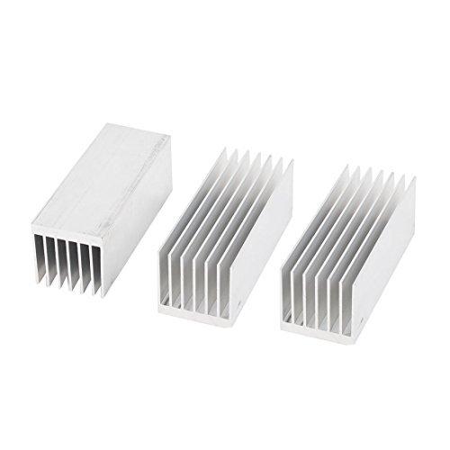 Amazon.com: 3 Pcs Silver Tone Alumínio Radiador dissipador de calor dissipador de calor 100x38.2x38mm: Electronics
