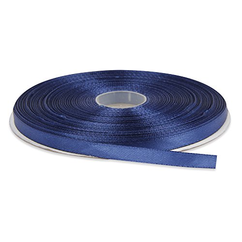 -dark-blue-double-face-solid-satin-ribbon-50-yards-roll-multiple-colors-available-by-topenca-supplie