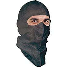 UV-Shield Black Full-cover Soft-stretch Hood for Outdoor Construction, Asphalt Paving, Demolition, Metal Recycling. Superior Protection to Balaclava and Spray Sock. $1.66 Ea, 50 Per Pack