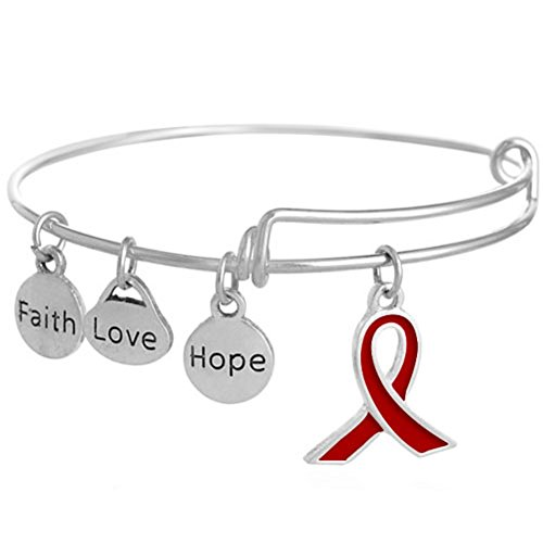 Heart of Charms Pink Love Braided Faith Believe Hope Ribbon Breast Cancer Awareness Bracelets Rope Bangle