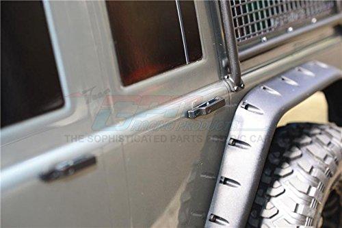 Accesorios para báscula R/C Manilla de puerta de simulación (grande) para TRX-4 Trail Defender Crawler, juego de 4 piezas en color negro.