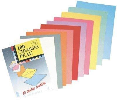 100 Aktendeckel für DIN A4 * 160g * 240 x 322 mm * 10 sortierte Farben * RAINEX