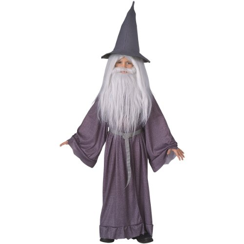 Hobbit Frodo Costume (Big Boys' The Hobbit Gandalf Costume Small)