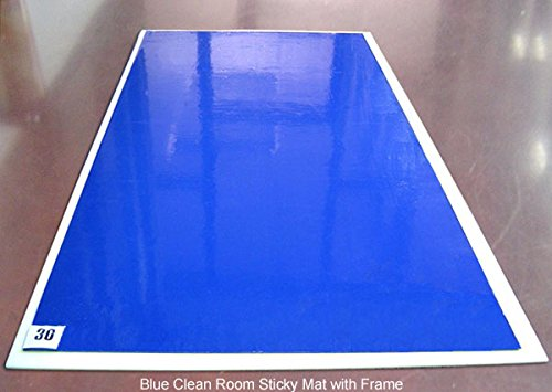 Clean Room Sticky Mat Frame - with 1 Pad (30 Sheets), Blue