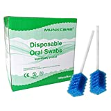 MUNKCARE Oral Care Swabs Disposable- Blue 100