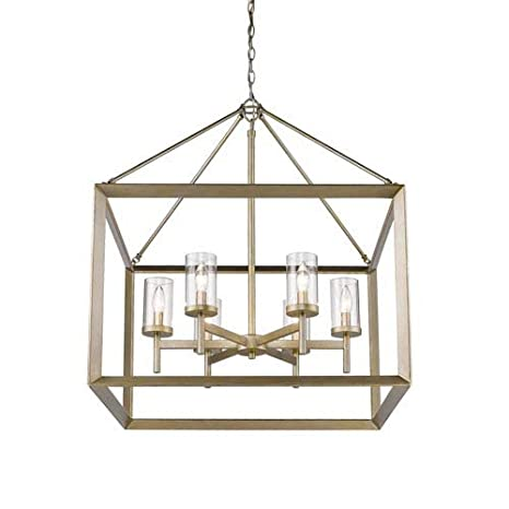 Golden Lighting Chandelier Throughout Golden Lighting 20736 Wgclr Smyth Wg Six Light Chandelier White