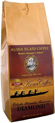 100% Pure Kona Coffee, Private Reserve Diamond, 8 Oz Whole Bean