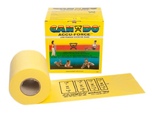 Cando Accu-Force Band Low Powder 50 yds X-Light Yellow for rehabilitation, conditioning & training