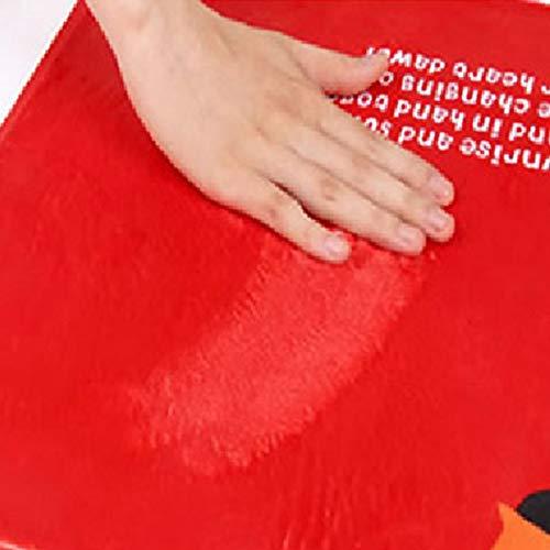 DaoRier Creativo Carta Alfombra Cocina Ba/ño Pasillo Exterior Lavable Antideslizante para Alfombra para en Parqu/é o Baldosas Negro 40/×60cm