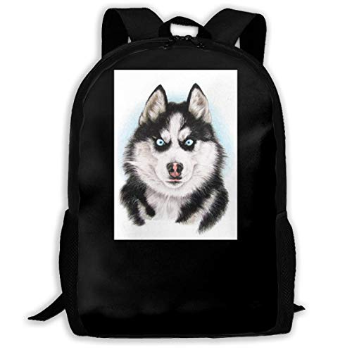 Fierce Husky Fashion Outdoor Shoulders Bag Durable Travel Camping For Kids Backpacks