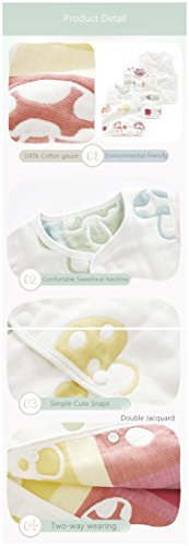 Luyusbaby Infant Baby Outwear Vests Colorful Guaze Reversible Waistcoat 6-9 Months by Luyusbaby (Image #3)