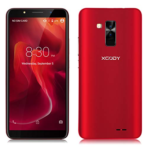 Xgody 6 Inch Android 8.1 Cellphone Unlocked Dual Camera HD (18:9) Screen Unlocked Smartphone 16GB+1GB Celulares Desbloqueados 2G/3G Network for T-Mobile/AT&T/MetroPCS ()