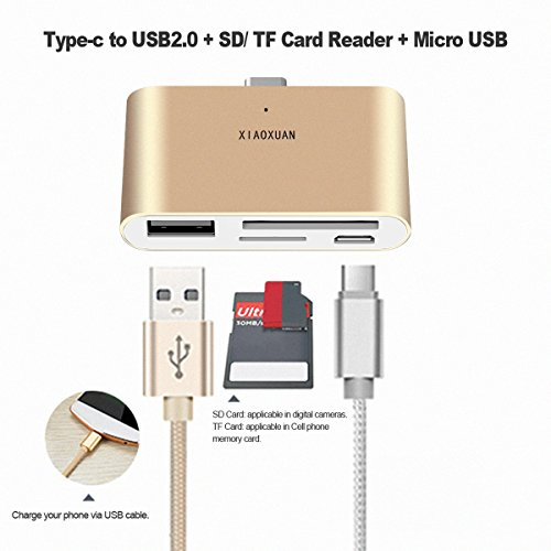 High Speed USB 3.1 Type C Card Reader Mini USB C Card Adapter Android Phones TF SD Memory Card For New MacBook/Huawei MateBook/Huawei P9/Windows/Android And More by XIAOXUAN