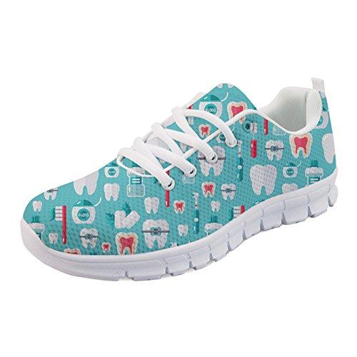 Dental Running Mesh Women's Shoes Air 8 Lightweight Tennis Dental IDEA Print Sneakers HUGS XUwSfS