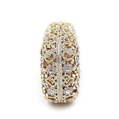 Metal sac Pierres de formel mariage soirée Diamants d'embrayage précieuses Gold événement HandbagPurse de femmes partie Les YqO5fAz