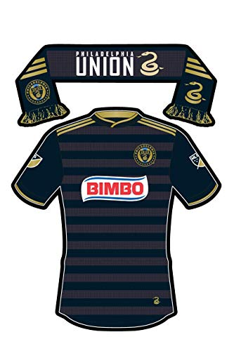 - Philadelphia Union FC Sticker Team Jersey Uniform & Scarf Vinyl Decal Label Stickers, Die-Cut Shape for Water Bottle Laptop Luggage Bike Laptop Car Bumper Helmet Waterproof Love Pride MLS Soccer