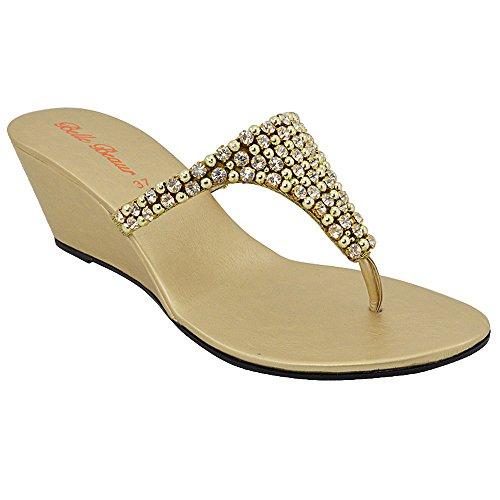 Essex Glam - Sandalias de Vestir Mujer dorado - gold
