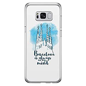 Samsung S8 Transparent Edge Case Barcelona -Multicolor