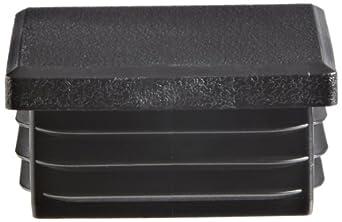 Kapsto 260 Q 4040 1.5 - 2 Polyethylene Square Plug, Black, 40 mm (Pack of 100)
