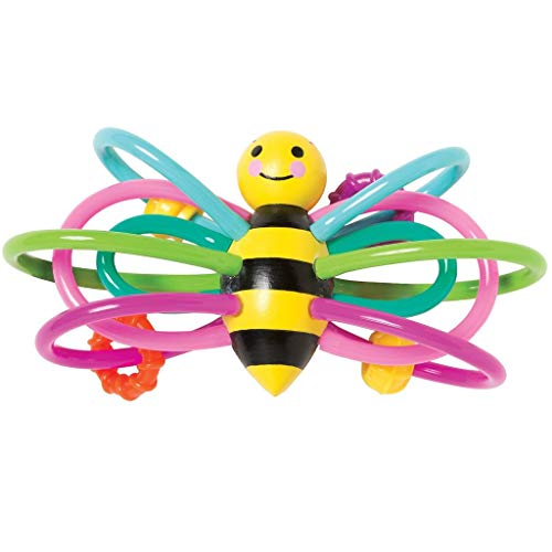 Manhattan Toy Winkel Bee Rattle  & Sensory Teether Baby Toy