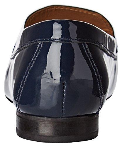 Jb Martin Tiphaine 12720, Mocasines para Mujer Bleu (Vver Verniz Sed Oce Elba Blue)
