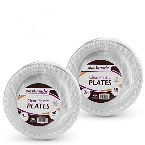 (Clear Disposable Plastic 7 Inch Plates (80 Pack))