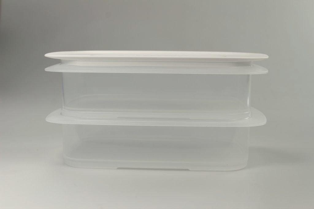 envase Cubierta regulaci/ón del clima blanco 2 TUPPERWARE Cool apilable 1,5L