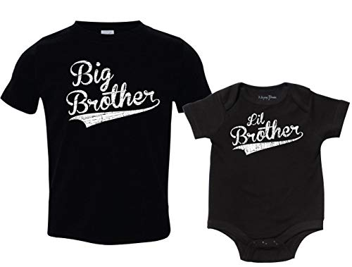Texas Tees Big Brother Little Brother Baseball Shirts, Includes Adult Small & 3-6 mo