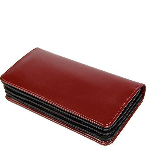 Claire Chase Women's Bi-Fold Crossbody Wallet, Cognac