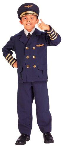 Airline Pilot Child Costume - Medium (8-10) - Kid's Costumes