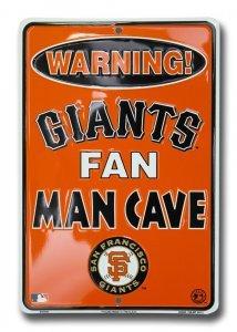 (Dixie San Francisco Giants Man Cave Parking Sign)