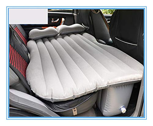 LOSITA gray flocking fabric (NO Edge of a bed) Car Inflatable Mattress Travel Camping Air Bed Universal SUV Air Couch with 2 Air ()