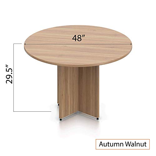 GOF 48'' Round Table (48W x 48D x 29.5H), Cherry, Espresso, Mahogany, Walnut (Walnut 5-Piece Table Set) by GOF (Image #3)