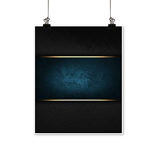 Canvas Prints Artwork The Template for The Inscription Black Background with a Blue nameplate. Artwork Wall,12