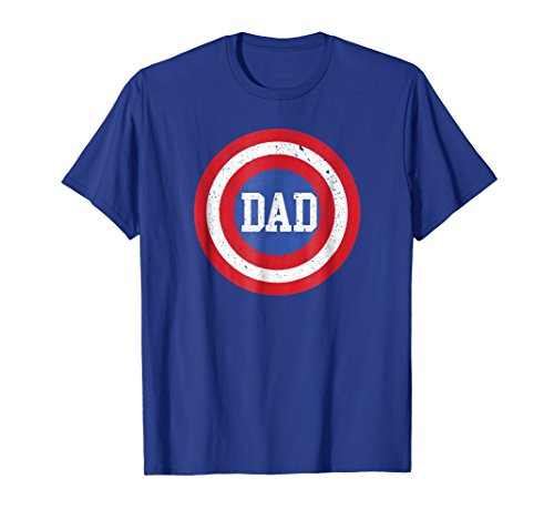 Mens Dad Superhero T-Shirt Father's Day Tee Shirt Large Royal Blue for $<!--$18.99-->