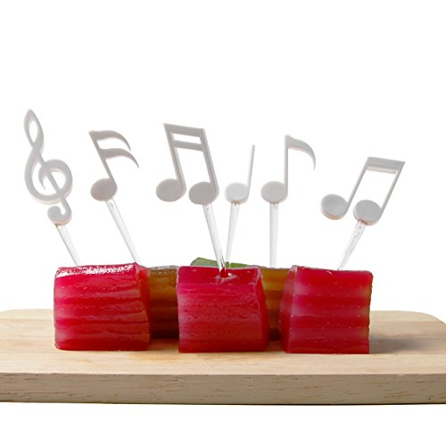 Sansukjai Set 6 PCS Melody, Cocktail Picks, Party Picks, Party Decorations, Kitchen Decor, Music lover