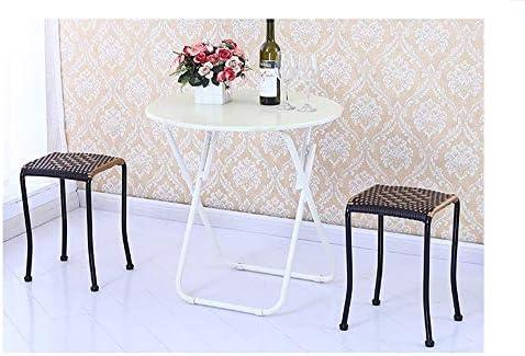 ZHNA Tabouret de Salle à Manger de Table de Changement de Tabouret décontracté en Plastique de Chaise de rotin de Tabouret 45 * 30 * 30cm (Size : A)
